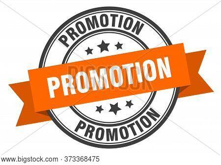 Promotion Label. Promotion Orange Band Sign. Promotion