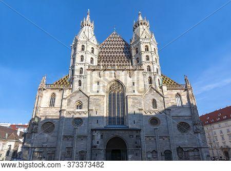 St. Stephen's Cathedral Facade In Vienna, Austria