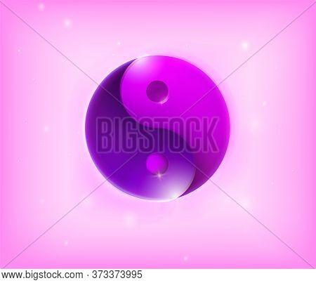 Ying Yang Symbol. Yin Yan Karma Icon. Yinyang Tao Balance Logo. Zen Harmony Background. Buddha Manda
