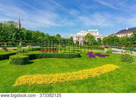 Volksgarten Park View In Spring, Vienna, Austria