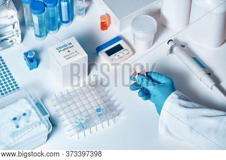 Quick Novel Covid-19 Coronavirus Test Kit. 2019 Ncov Pcr Diagnostics Kit. The Kit Detects Covid19 Vi