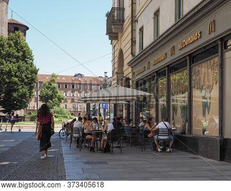 Via Accademia Delle Scienze Street In Turin, Italy