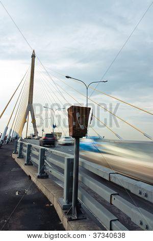 Rama 8 Bridge On The A Phone Booth.