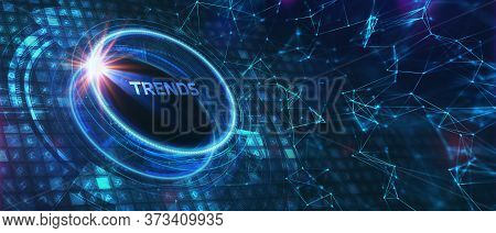 Business, Technology, Internet And Network Concept. Recent And Latest Trend. 3d Illustration.