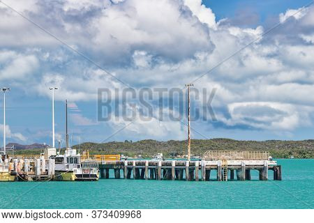 Port And Dock Of Thursday Island In The Torres Strait At The Most Northern Part Of Australia.