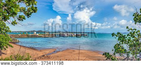Panoramic View Of The Port And Dock Of Thursday Island In The Torres Strait At The Most Northern Par