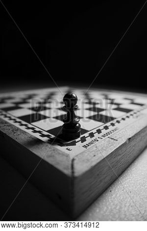 Black And White Color Of Chess Pawn Piece