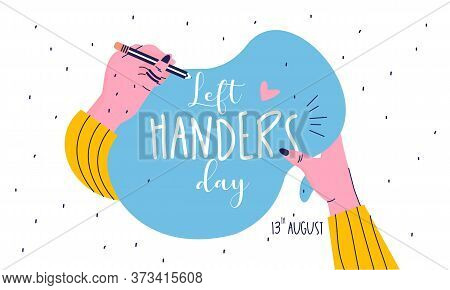 Flat Design Happy Left Handers Day Concept