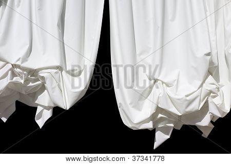 Curtain On Black