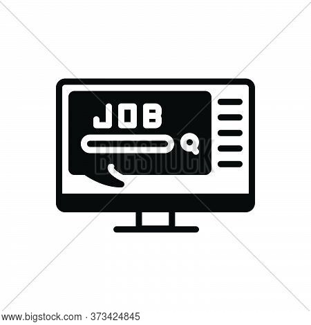 Black Solid Icon For Job Task Work Duty Responsibility Doing Occupation