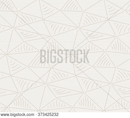 Repetitive Abstract Graphic Triangle Art Pattern. Seamless Fashion Vector, Continuous Texture Textur