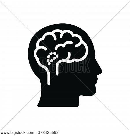 Black Solid Icon For Hypothalamus Endocrine Brain Cerebellum Medical Anatomy