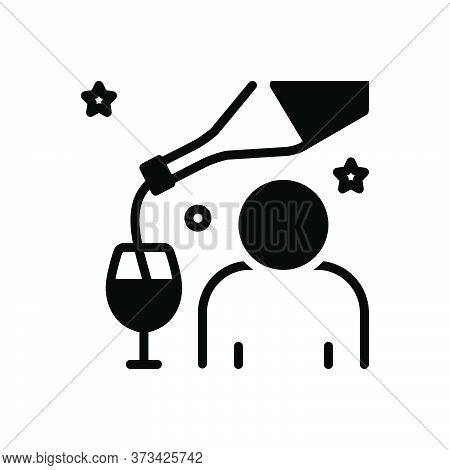 Black Solid Icon For Impair Harm Undignified Drunkard Boozer