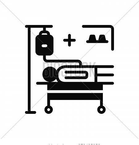 Black Solid Icon For Incidence Phenomenon Accident Occurrence Phenomena Treatment Medical