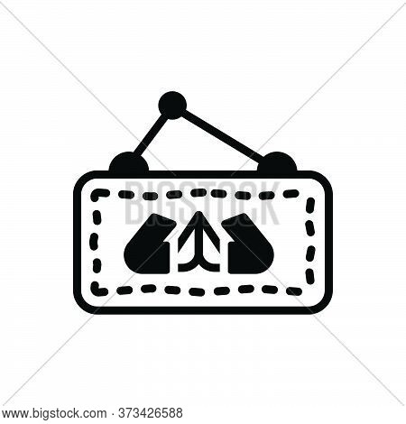 Black Solid Icon For Welcome Compliment Acclamation Greeting Reception