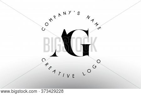 Letters Ag A G Logo With A Minimalist Design. Simple Ag Icon With Circular Name Pattern. Creative St