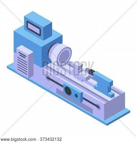 Lathe Machine Icon. Isometric Of Lathe Machine Vector Icon For Web Design Isolated On White Backgrou