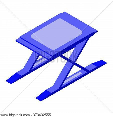 Car Lift Stand Icon. Isometric Of Car Lift Stand Vector Icon For Web Design Isolated On White Backgr