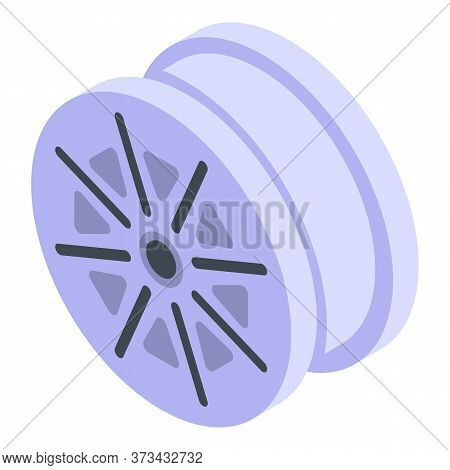 Wheel Without Tire Icon. Isometric Of Wheel Without Tire Vector Icon For Web Design Isolated On Whit