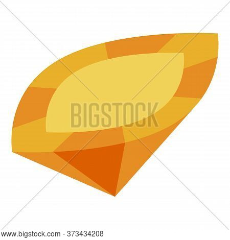 Orange Gemstone Icon. Isometric Of Orange Gemstone Vector Icon For Web Design Isolated On White Back