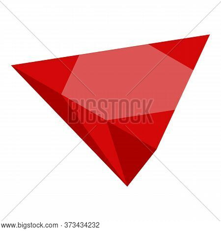 Red Ruby Icon. Isometric Of Red Ruby Vector Icon For Web Design Isolated On White Background