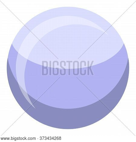 White Pearl Icon. Isometric Of White Pearl Vector Icon For Web Design Isolated On White Background