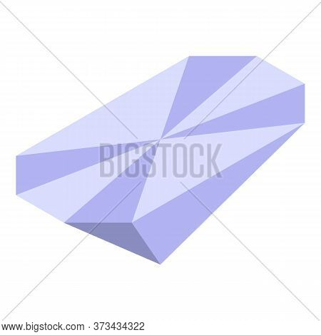 Shiny Diamond Icon. Isometric Of Shiny Diamond Vector Icon For Web Design Isolated On White Backgrou