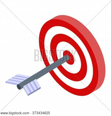 Purchasing Manager Target Icon. Isometric Of Purchasing Manager Target Vector Icon For Web Design Is