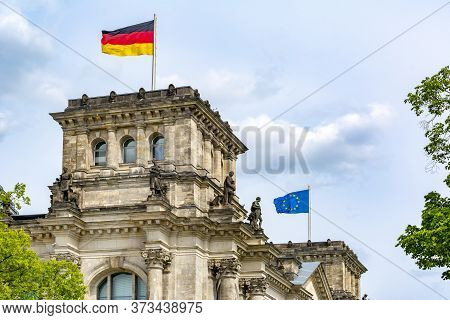 Reichstag Building (bundestag - Parliament Of Germany) In Berlin