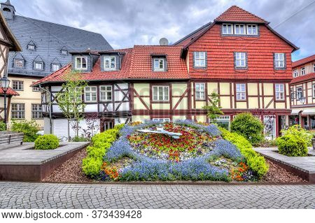 Streets Of Old Town With Half-timbered Houses, Wernigerode, Germany