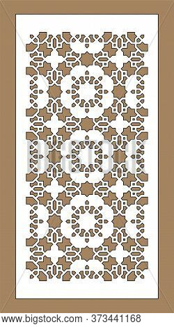 Arabic Cnc Vector Panel. Laser Cutting. Template For Interior Partition In Arabic Style. Cnc Decorat