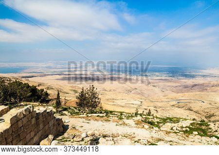 Landscape Of The Holy Land As Viewed From The Mount Nebo, Jordan