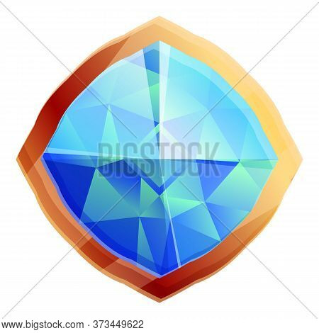 Gemstone Icon. Cartoon Of Gemstone Vector Icon For Web Design Isolated On White Background