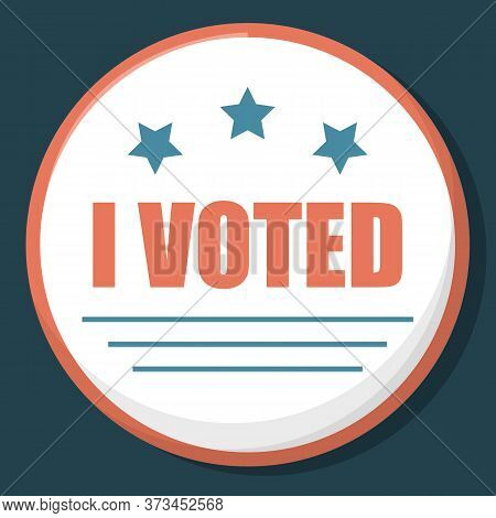 Us Election Pin Vector Isolated. Vote For President, Democratic And Republican Parties. Voting Badge