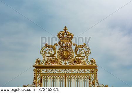 Versailles, France - August 27, 2019 : The Palace Of Versailles Is A Royal Chateau In Versailles, Fr