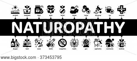 Traditional Naturopathy Medicine Minimal Infographic Web Banner Vector. Naturopathy Alternative Ther