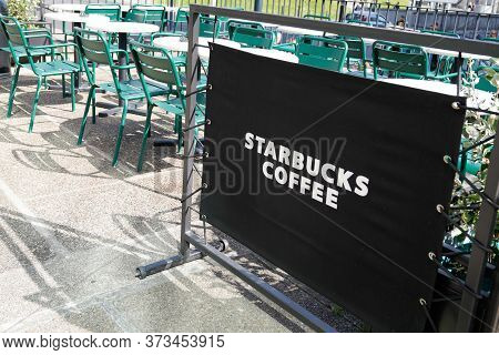 Bordeaux , Aquitaine / France - 09 18 2019 : Starbucks Coffee Exterior Largest Coffeehouse Company I