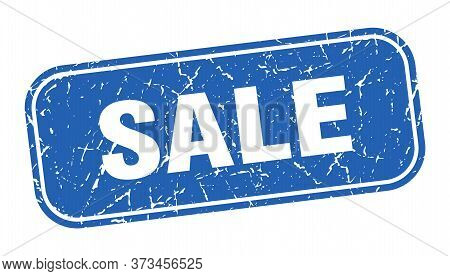 Sale Stamp. Sale Square Grungy Blue Sign.