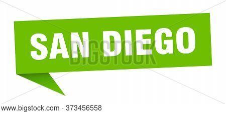 San Diego Sticker. Green San Diego Signpost Pointer Sign