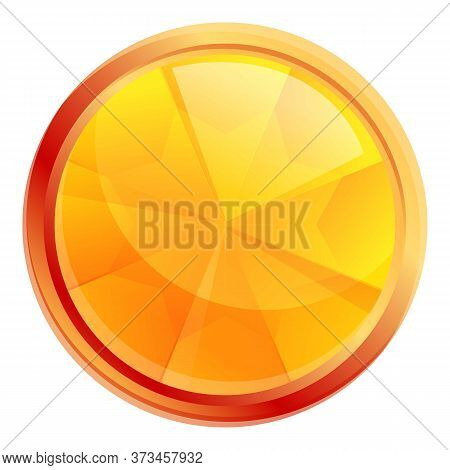 Beauty Gold Gem Icon. Cartoon Of Beauty Gold Gem Vector Icon For Web Design Isolated On White Backgr