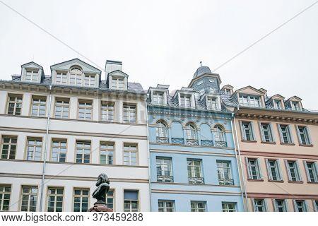 Frankfurt, Germany - January 22, 2019: Old Town of Frankfurt am Main, Germany.