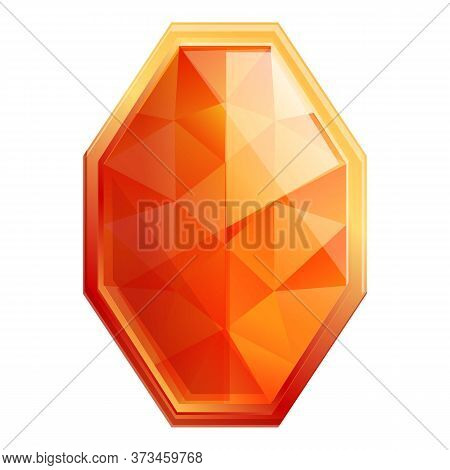 Beautiful Gemstone Icon. Cartoon Of Beautiful Gemstone Vector Icon For Web Design Isolated On White
