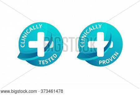 Clinically Tested And Clinically Proven Stickers For Laboratory Tested And Certified Products - Vect