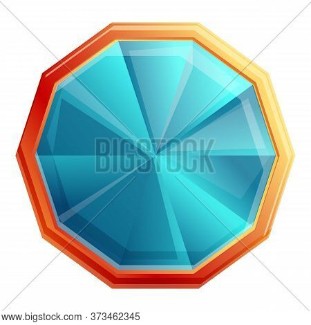 Jewelry Gemstone Icon. Cartoon Of Jewelry Gemstone Vector Icon For Web Design Isolated On White Back