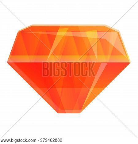 Fashion Gem Icon. Cartoon Of Fashion Gem Vector Icon For Web Design Isolated On White Background