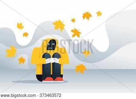 Autumn Depression - Loneliness, Solitude Melancholy - Conceptual Illustration For Psychology