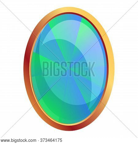 Sapphire Gem Icon. Cartoon Of Sapphire Gem Vector Icon For Web Design Isolated On White Background