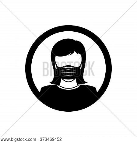 Face Mask Women Icon Isolated On White Background, Face Mask Vector Design Illustrations. Face Mask