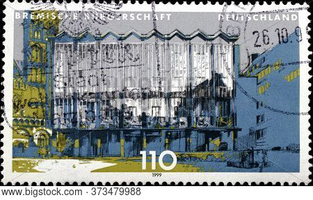 02 10 2020 Divnoe Stavropol Krai Russia The Postage Stamp Germany 1999 Constituent States Of Parliam