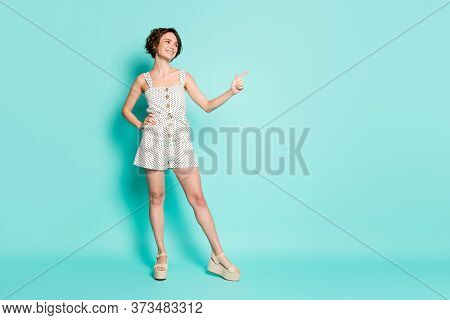 Full Length Body Size View Of Her She Nice Attractive Charming Pretty Cheerful Cheery Confident Girl